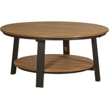 Deluxe Conversation Table Premium Antique Mahogany and Black