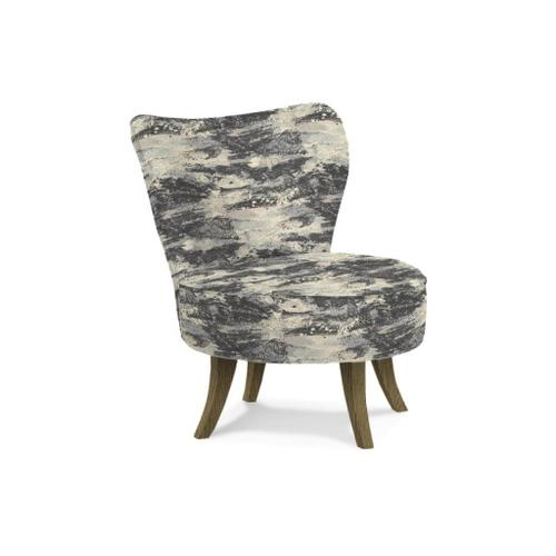 Florence Swivel Barrel Chair in Haze Fabric