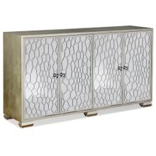 See Details - Storage Cabinet with Honeycomb Glass Doors