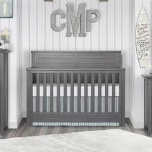 Evolur Belmar Flat 5 in 1 Convertable Crib- Rustic Grey