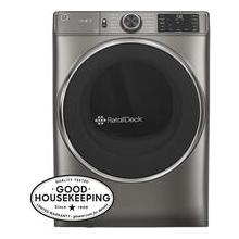 See Details - GE® 7.8 cu. ft. Capacity Smart Front Load Electric Dryer with Steam and Sanitize Cycle Model: GFD65ESPNSN