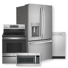 See Details - 27.7 Cu. Ft. Fingerprint Resistant French-Door Refrigerator & Free-Standing Electric Convection Range Package