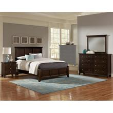 King Merlot 4 PC Bedroom Set - Panel Bed