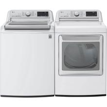 LG 5.5 cu. ft. White Top Load Washing Machine with TurboWash 3D and 7.3 cu. ft. White Electric Dryer with EasyLoad and TurboSteam