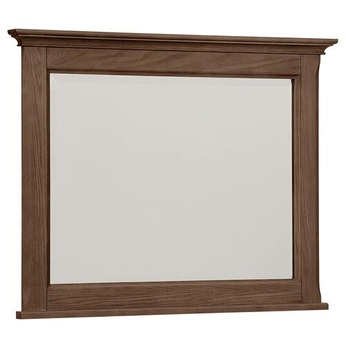 Artisan & Post Heritage Landscape Mirror in Cobblestone Oak Finish