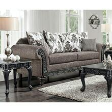 See Details - Wood Trimmed Sofa