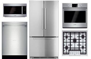 Bosch Stainless Steel 5-Piece Kitchen Package (Gas)
