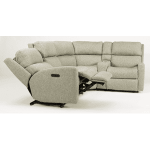 Catalina Fabric Reclining Console Sectional