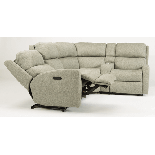 Flexsteel - Catalina Fabric Reclining Console Sectional