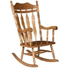 Large Carved Back Rocker