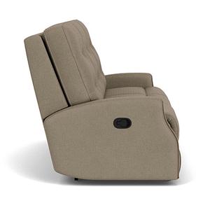 Flexsteel - Devon Fabric Power Reclining Sofa w/ Tilt Headrest and Nailhead Trim - 296-01