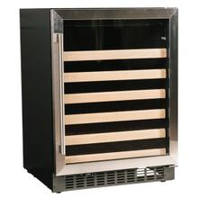 "24"" Wine Center with Stainless Trim Glass Door"