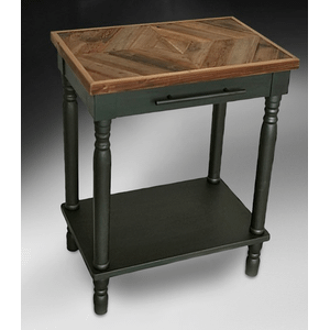 Medallion Lighting & Home Furnishings - RECLAIMED CHESTNUT BLACK ACCENT TABLE       (AFB100NS,53119)
