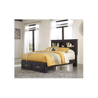 Reylow Queen Book case Bedframe w/ Storage