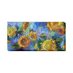 Outdoor Canvas Art - Joyful (Sunflowers) 48 x 24