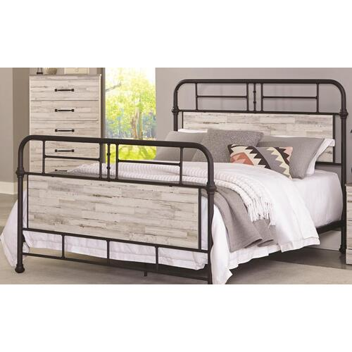 4-Piece Gambrel Queen Size Bed