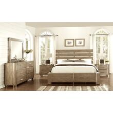 Home Insights Buena Visa Grey Gaze King Bedroom Set: King Bed, Nightstand, Dresser & Mirror