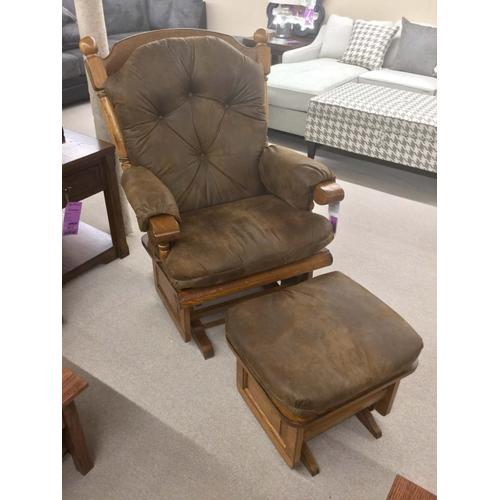 Glider Rocker with Ottoman - Extra Large