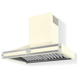 Lacornue Cornufe - Blanc Albertine 90 Hood with Satin Chrome Accents