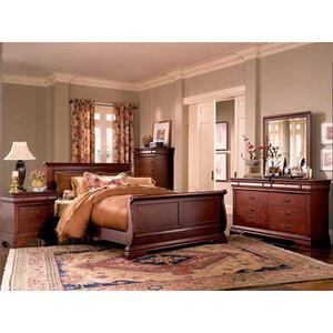 Cherry Louis Philippe Sleigh Bedroom Collection