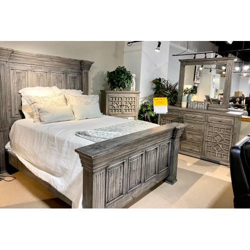 Alexandria Queen Bed, Dresser, Mirror, Chest and Nightstand
