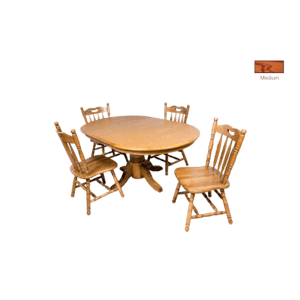 Laminate Top Oval Extension Table with  Cable Slides