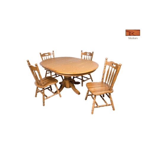 Gallery - Laminate Top Oval Extension Table with  Cable Slides