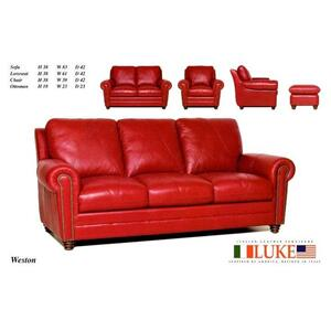 Weston 100% Leather Sofa