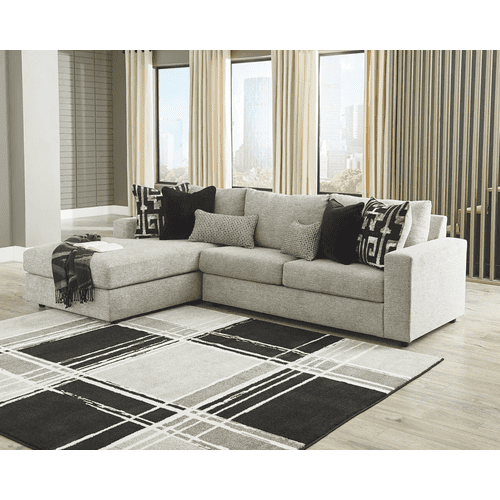 Ravenstone - Flint - 2-Piece Sectional with Left Facing Chaise and Full Sleeper