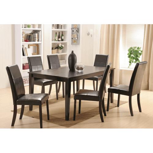 Gallery - Model Pettega (7pc set)  Rectangular Hardwood / Veneer Table  and Upholstered Chairs