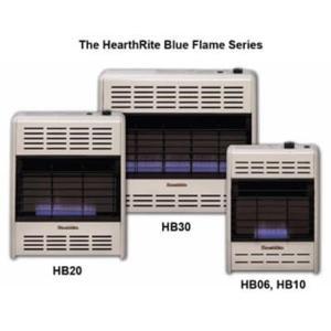 20,000 BTU Blue Flame Propane Gas Space Heater