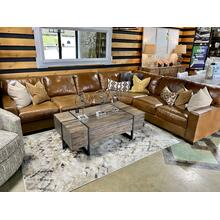 See Details - Splendor Chestnut Leather Sectional
