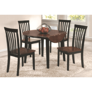 Two Tone Round Solid Wood / Veneer  Table with Drop Leaf