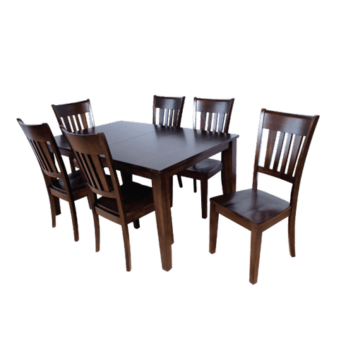 Gallery - Rectangular Extension Solid Wood  Table with Butterfly Leaf and  Solid Wood Chairs
