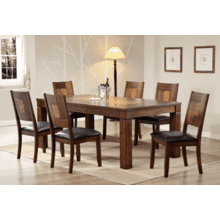 See Details - Walnut Veneer Solid Hardwood Table  with Butterfly Leaf and Cushion Chair