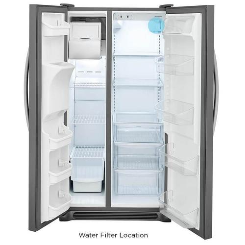 Frigidaire 22-cu ft Side-by-Side Refrigerator with Ice Maker (Easycare Stainless Steel)