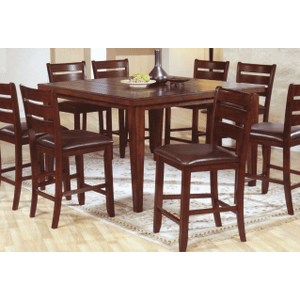 Hardwood Square Pub Table w/ Butterfly Leaf