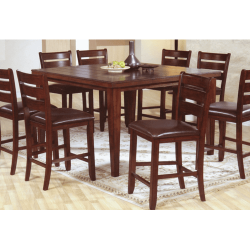 Gallery - Hardwood Square Pub Table w/ Butterfly Leaf