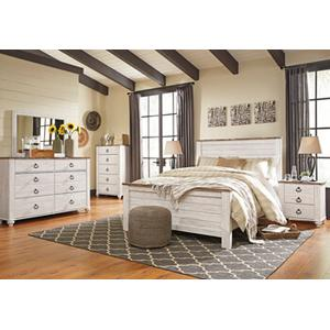 Willowton Qn Bed, Dresser, Mirror and Nightstand