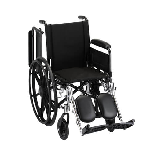 "16"" Lightweight Wheelchair w/ Full Arms & Elevating Leg Rests"