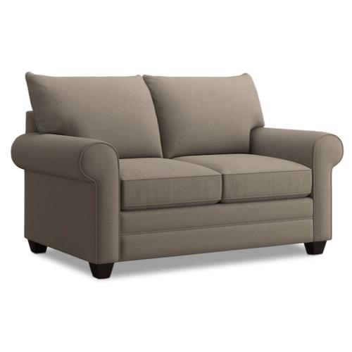 Bassett Furniture - Alex Roll Arm Loveseat - Fog