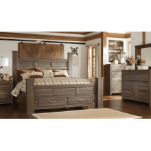 See Details - Ashley 4-Piece Queen Poster Bed with Storage