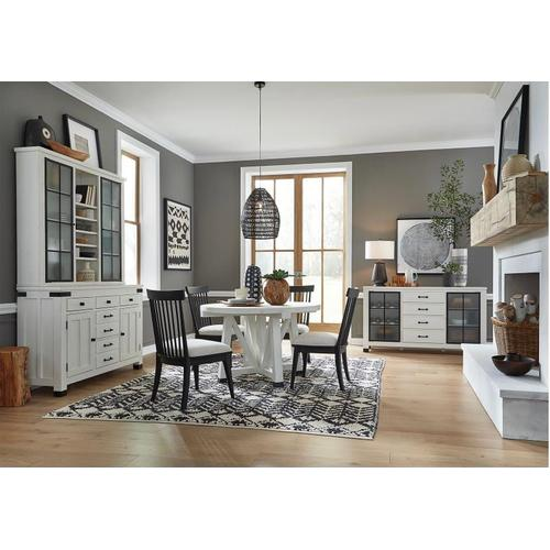 """Magnussen Home - 48"""" Round Table & 4 Chairs"""
