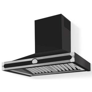 Lacornue Cornufe - Gloss Black Albertine 90 Hood with Satin Chrome Accents