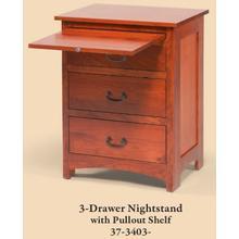 Amish-made 1 Drawer Nightstand