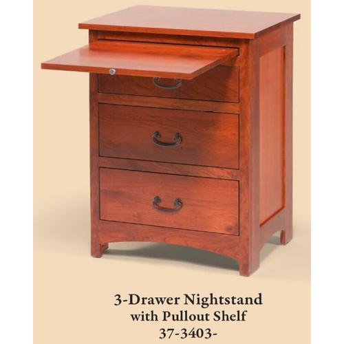 Daniel's Amish Furniture - Amish-made 1 Drawer Nightstand