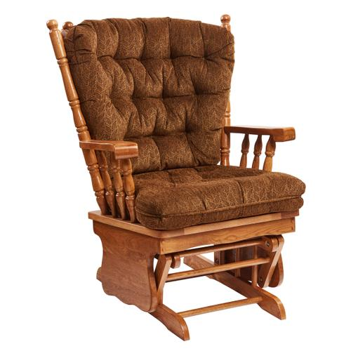 HOLLAND HOUSE 5884FP Foliage Pecan Glider Rocker