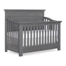 Evolur Waverly 5 in 1 Adjustable Full Panel Crib- Rustic Grey