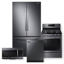 See Details - SAMSUNG 28 cu. ft. Large Capacity 3-Door French Door Refrigerator 4 Piece Package- Open Box