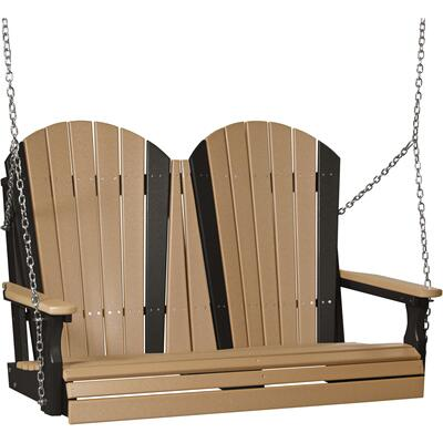 Adirondack Swing 4' Cedar and Black